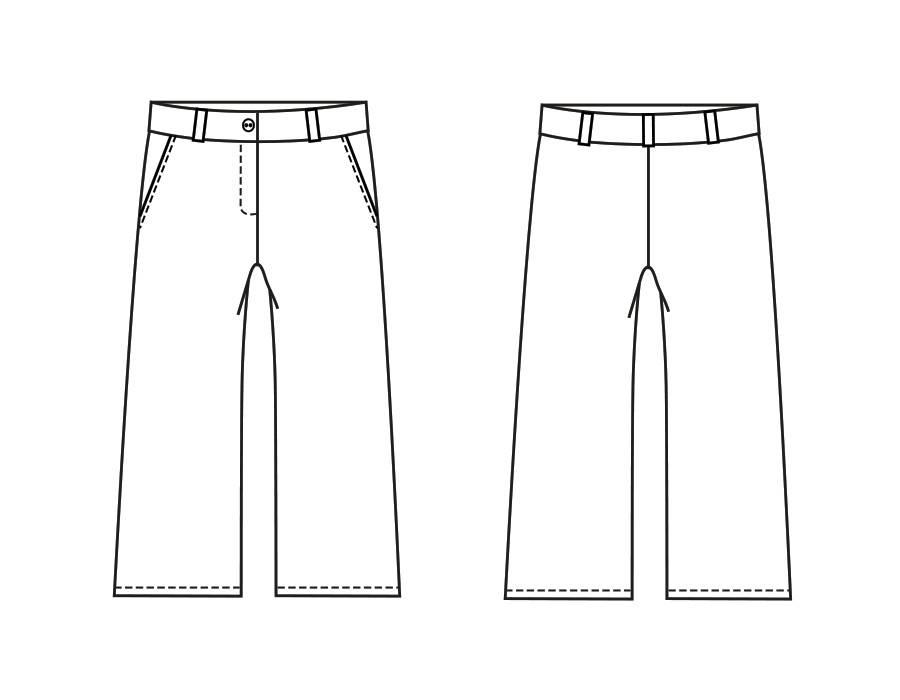 "P1028 Trousers ""Flora"""