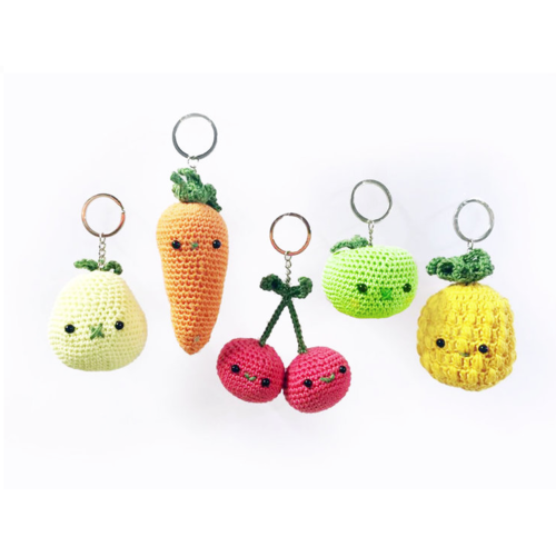 Hardicraft Crochet kit Bag Pendant Carrot