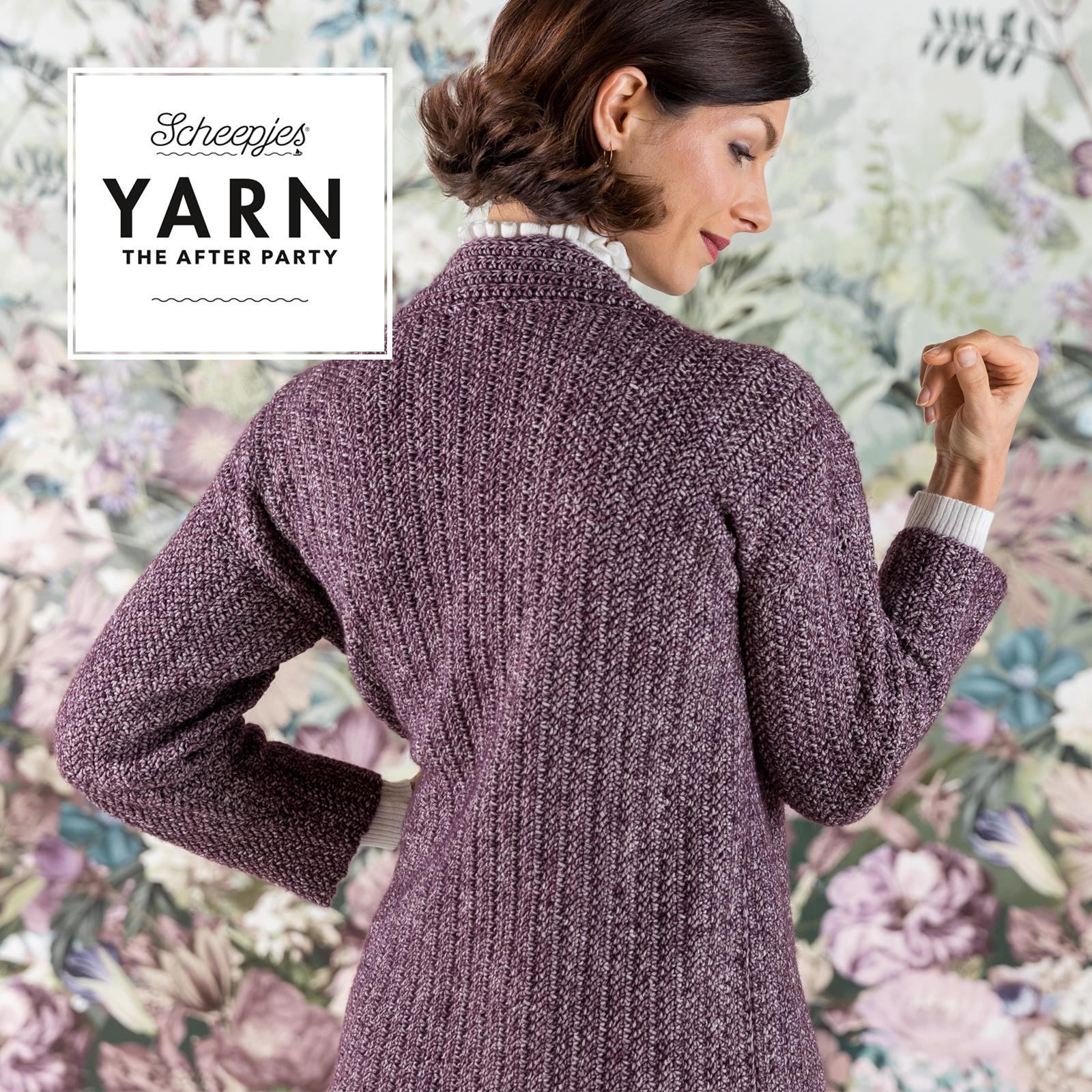 "YARN Patron de crochet 29 ""Herringbone Cardigan"""