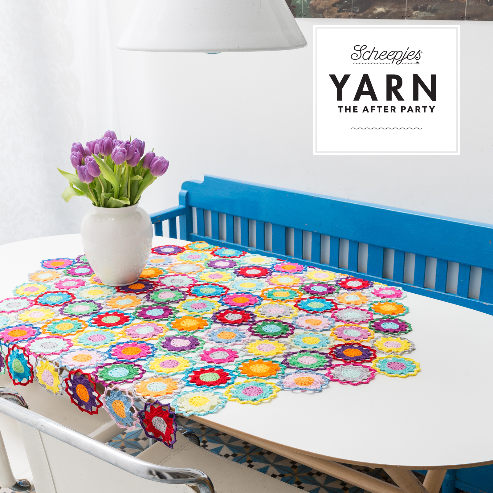 "YARN Patron de crochet 11 ""Garden Room Tablecloth"""