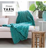 "YARN Patron de crochet 24 ""Popcorn & Cables Blanket"""
