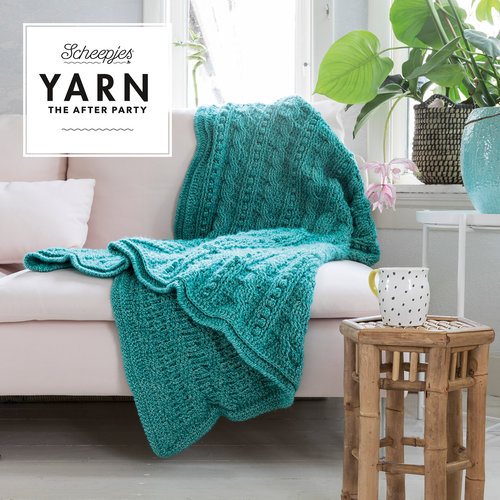 "Yarn YARN Crochet pattern  24 ""Popcorn & Cables Blanket"""