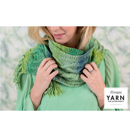 """YARN Haakpatroon 12 """"Mossy Cabled Scarf"""""""