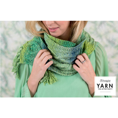 "Yarn YARN Crochet pattern 12 ""Mossy Cabled Scarf"""