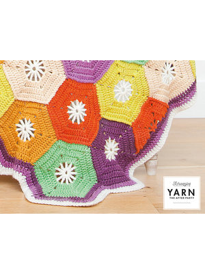 "Yarn YARN Patron de crochet 14 ""Hexagon Blanket"""