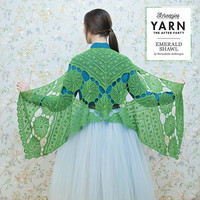 "YARN Crochet pattern 3 ""Emerald Shawl"""