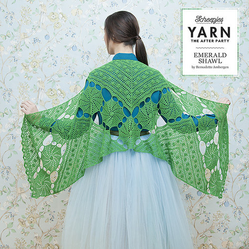 "Yarn YARN Crochet pattern 3 ""Emerald Shawl"""