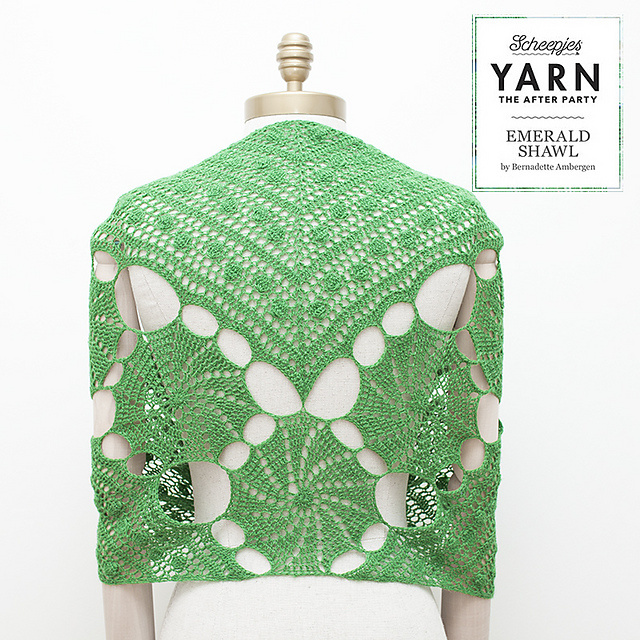 "YARN Patron de crochet 3 ""Emerald Shawl"""