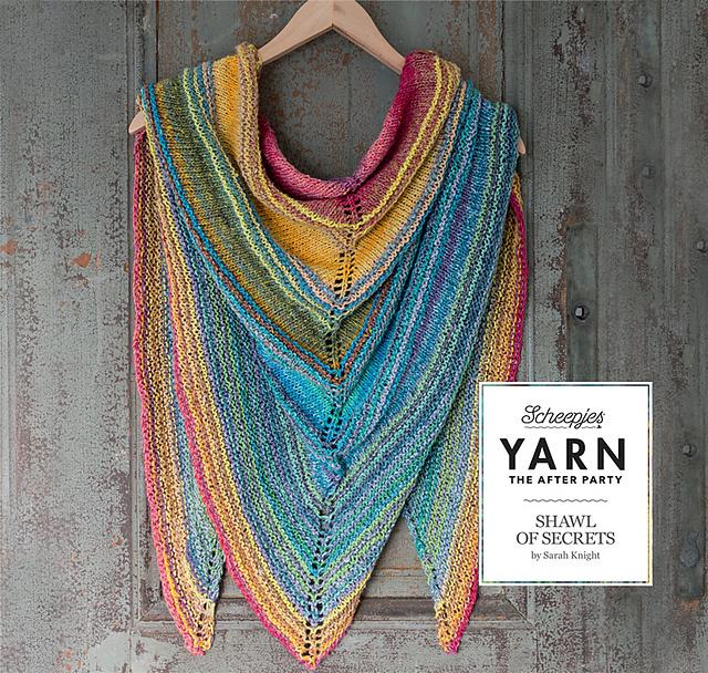 """YARN Crochet pattern 6 """"Shawl of Secrets"""""""