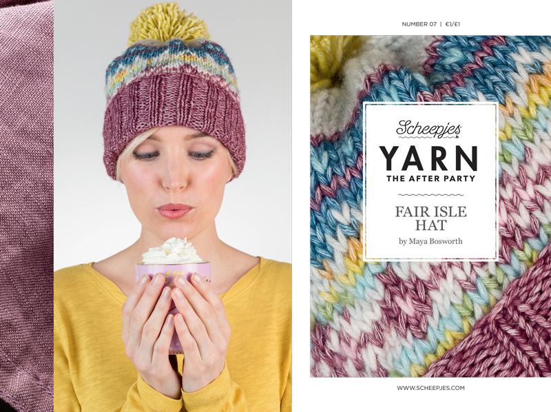 "YARN Patron de crochet 7 ""Fair Isle Hat"""