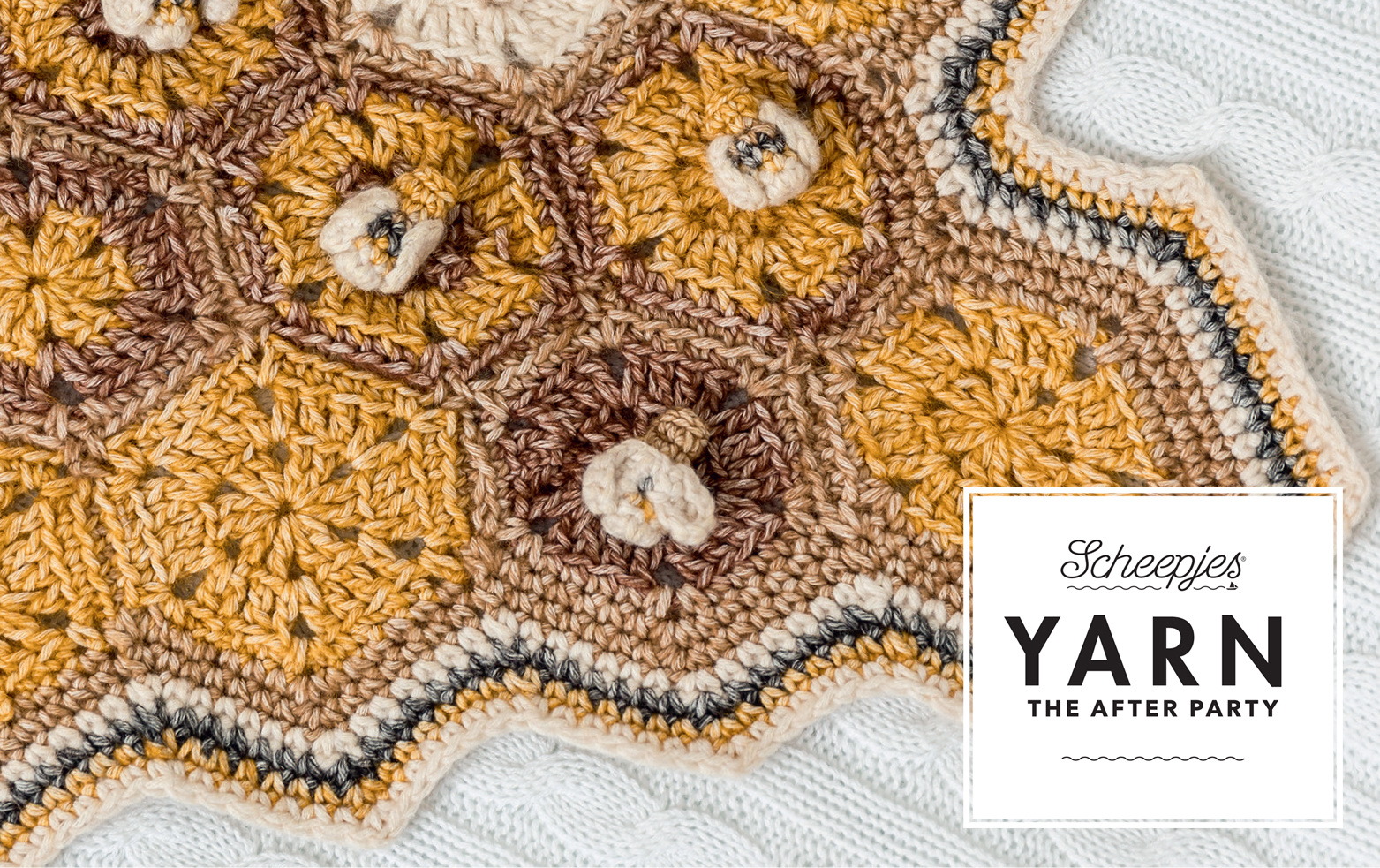 "YARN Patron de crochet 8 ""Honey Bee Blanket"""