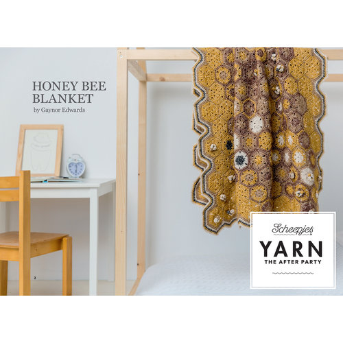 "Yarn YARN Häkelmuster  8 ""Honey Bee Blanket"""