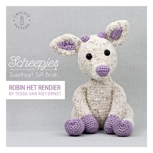 Book Sweetheart Soft Brush Reindeer