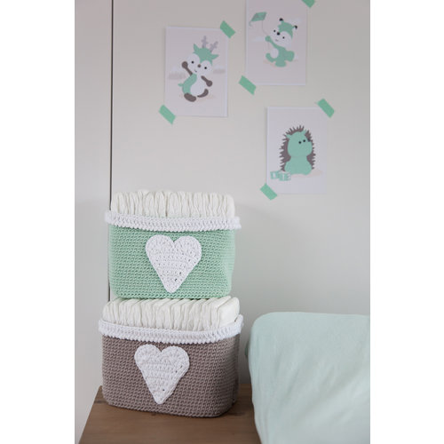 DenDennis Crochet Package DenDennis Basket Mint green