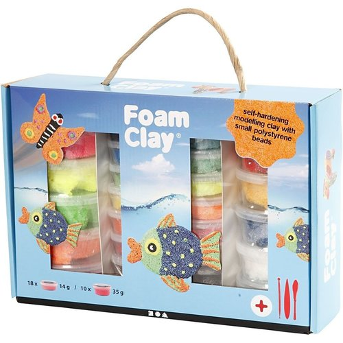 Creativ Company Foam Clay® Set Couleurs Assorties