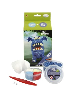 "Creativ Company Silk Clay® Set  ""Monstre Bleu"""