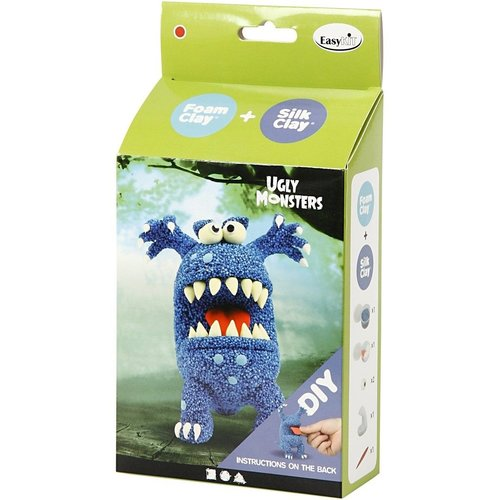 "Creativ Company Silk Clay® Set ""Monster Blauw"""
