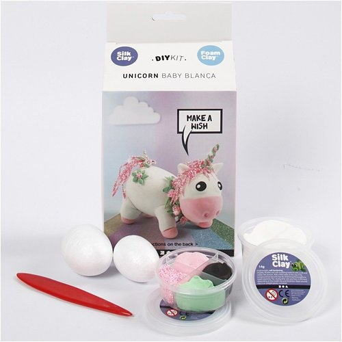 "Creativ Company Silk & Foam Clay® Set  ""Einhorn"""