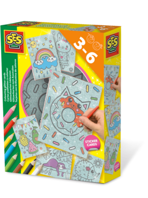 SES Creative SES Colouring glitter cards
