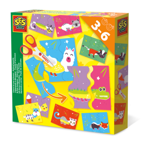 SES Creative SES I learn to use scissors - Animal puzzle