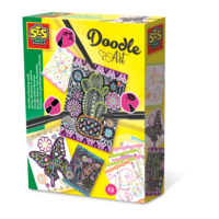 SES Doodle cartes illustrées à colorier