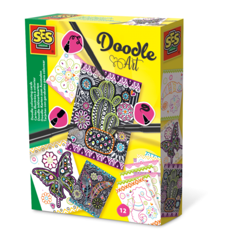 SES Creative SES Doodle colouring cards