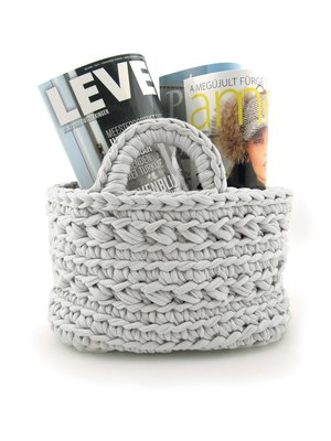 "Hoooked Hoooked - Zpagetti basket ""Revisto"" Grey"