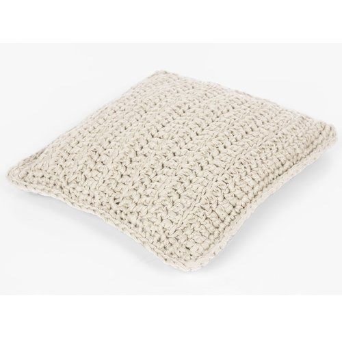 Hoooked Hoooked -RibbonXL Knit Kit Cushion Sandy Ecru