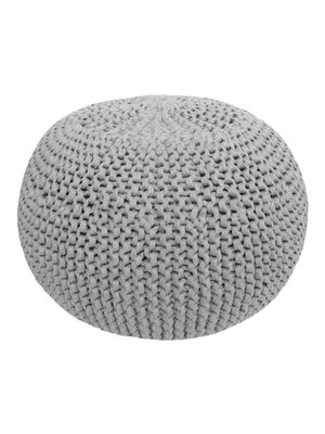 Hoooked Hoooked -RibbonXL Knitting Kit Pouf Silver Grey
