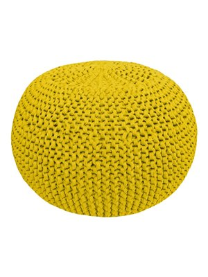Hoooked Hoooked -RibbonXL Knitting Kit Pouf Silver Spicy Ocre