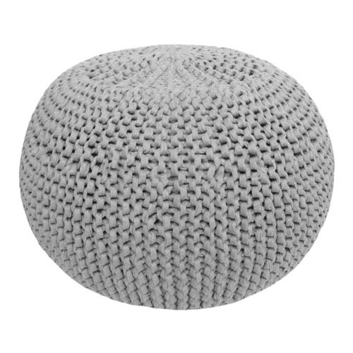 Hoooked Hoooked - Zpagetti  Crochet & Knit Kit Pouf Grey