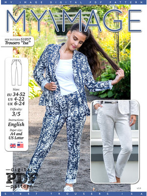 "Download S1057 Trousers ""Isa"""