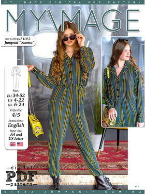 "Download S1063 Jumpsuit ""Samira"""