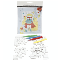 "Mini Kreativ-Set ""Puzzle Superheld"""