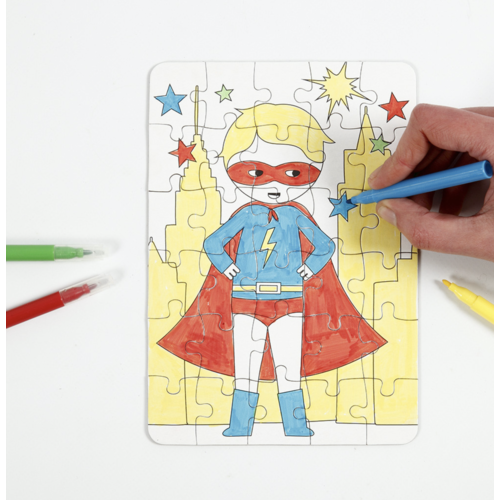"Creativ Company Mini Creative Kit ""Jigsaw puzzle superhero"""