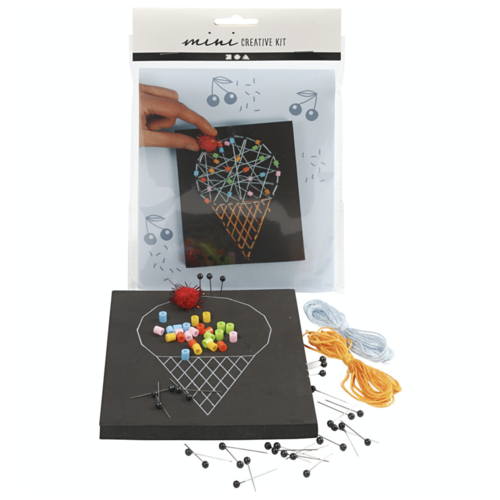 "Creativ Company Mini Creative Kit ""String art Ice cream"""