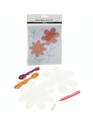 "Creativ Company Mini Creative Kit ""Embroidery Flowers"""