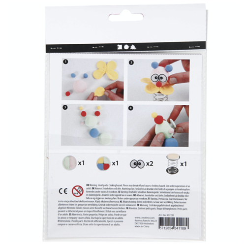 "Creativ Company Mini Creative Kit ""Modelling clowns"""