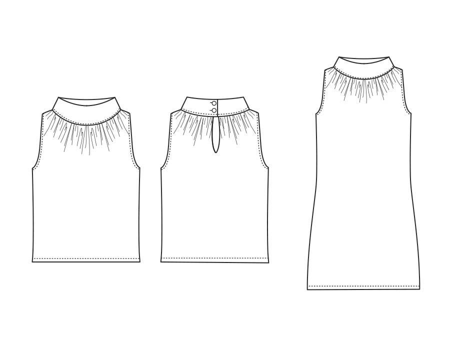 "S1010 Shirt/Jurk ""Lisa"""