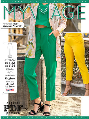 "Download S1091 Trousers ""Carol"""