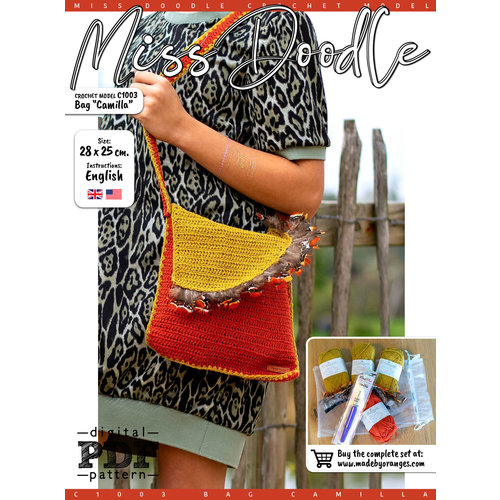 Miss Doodle Kit Crochet kit C1003 Bag Black + free magazine