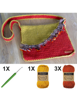 DIY Kit Crochet kit C1003 Bag Red + free magazine