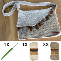 Crochet kit C1003 Bag Ecru + free magazine