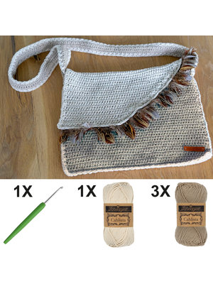 DIY Kit Crochet kit C1003 Bag Ecru + free magazine