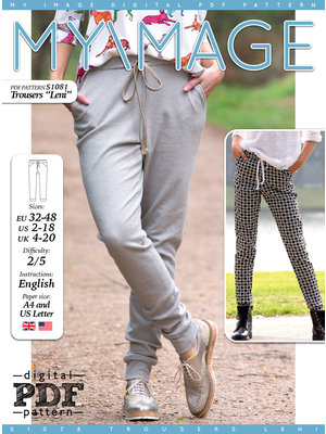 "Download S1081 Trousers ""Leni"""