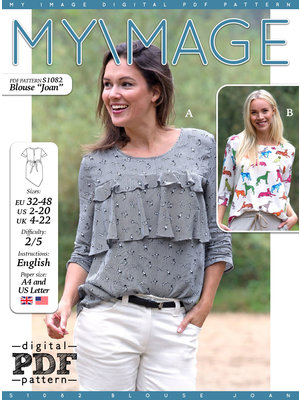 "Download S1082 Blouse ""Joan"""