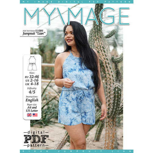 "Download S1086 Jumpsuit ""Lian"""