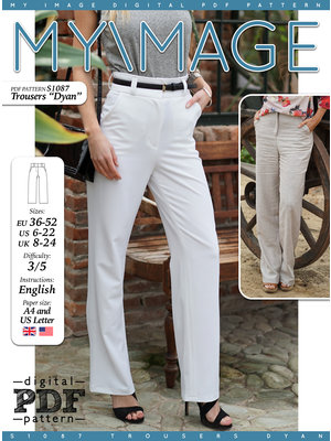 "Download S1087 Trousers""Dyan"""