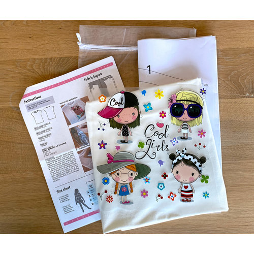DIY Kit Kit de couture H1002 Shirt Cool Girls + magazine gratuit