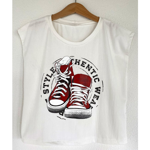 DIY Kit Nähset H1002 Shirt Sneakers + Gratis Heft